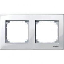 Рамка 2 поста Schneider Electric MERTEN M-PLAN, полярно-белый, MTN515219
