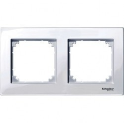 Рамка 2 поста Schneider Electric MERTEN M-PLAN, активно-белый, MTN515225