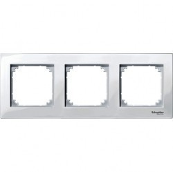 Рамка 3 поста Schneider Electric MERTEN M-PLAN, полярно-белый, MTN515319