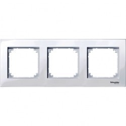 Рамка 3 поста Schneider Electric MERTEN M-PLAN, активно-белый, MTN515325