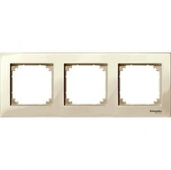 Рамка 3 поста Schneider Electric MERTEN M-PLAN, бежевый блестящий, MTN515344