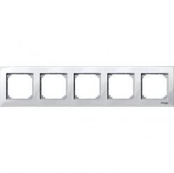 Рамка 5 постов Schneider Electric MERTEN M-PLAN, полярно-белый, MTN515519