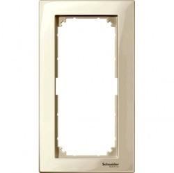 Рамка 2 поста Schneider Electric MERTEN M-PLAN, бежевый блестящий, MTN515844