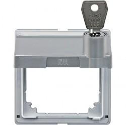 Крышка для розетки Schneider Electric MERTEN AQUADESIGN IP44, с заземлением, с крышкой, алюминий, MTN516360