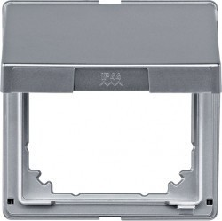 Крышка для розетки Schneider Electric MERTEN AQUADESIGN IP44, с заземлением, с крышкой, алюминий, MTN516560