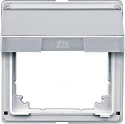 Крышка для розетки Schneider Electric MERTEN AQUADESIGN IP44, с заземлением, с крышкой, белый, MTN516619