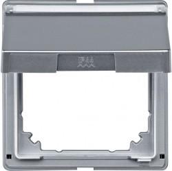 Крышка для розетки Schneider Electric MERTEN AQUADESIGN IP44, с заземлением, с крышкой, алюминий, MTN516660