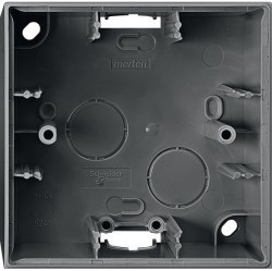 Коробка одинарная для накладного монтажа Премиум-класса System M Schneider Electric (Германия). Артикул: MTN524114
