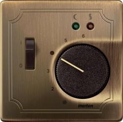 Накладка на термостат Schneider Electric MERTEN SYSTEM DESIGN, античная латунь, MTN537543