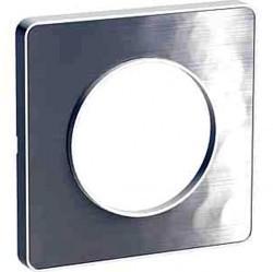 Рамка 1 пост Schneider Electric ODACE, алюминий Martele, S52P802K