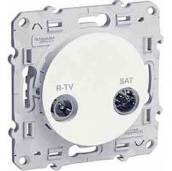 Розетка TV-SAT Schneider Electric ODACE, одиночная, глянцевый, S52R454