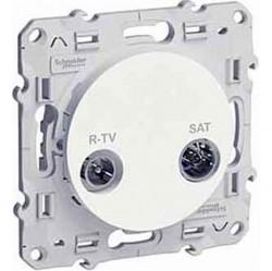 Розетка TV-SAT Schneider Electric ODACE, проходная, глянцевый, S52R456