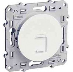 Розетка 1xRJ45 Cat.6 Schneider Electric ODACE, глянцевый, S52R475