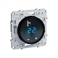 Термостат для теплого пола Schneider Electric ODACE, с дисплеем, с датчиком, белый, S52R509