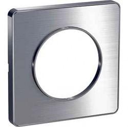Рамка 1 пост Schneider Electric ODACE, алюминий полированный, S53P802J