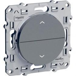 Выключатель для жалюзи кнопочный Schneider Electric ODACE, алюминий, S53R207