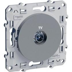 Розетка TV Schneider Electric ODACE, одиночная, алюминий, S53R445