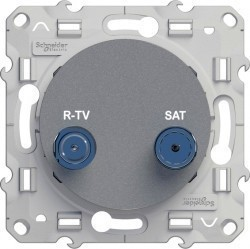 Розетка TV-SAT Schneider Electric ODACE, одиночная, алюминий, S53R454