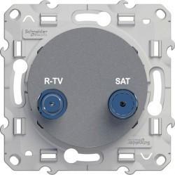 Розетка TV-SAT Schneider Electric ODACE, проходная, алюминий, S53R456