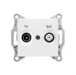 Розетка TV-SAT Schneider Electric SEDNA, оконечная, белый, SDN3401621