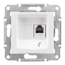 Розетка 1xRJ11 Schneider Electric SEDNA, белый, SDN4101121