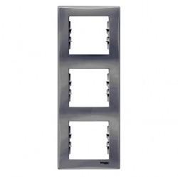 Рамка 3 поста Schneider Electric SEDNA, вертикальная, белый, SDN5801321