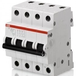 Автоматический выключатель ABB SH200 3P+N 20А (C) 6кА, 2CDS213103R0204