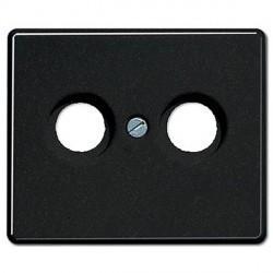Накладка на розетку телевизионную Jung SL 500, черный, SL561TVSW