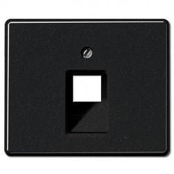 Накладка на розетку информационную Jung SL 500, черный, SL569-1UASW