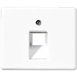 Накладка на розетку информационную Jung SL 500, белый, SL569-1UAWW