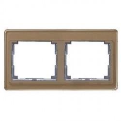Рамка 2 поста Jung SL 500, горизонтальная, бронзовый, SL5820GB