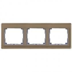 Рамка 3 поста Jung SL 500, горизонтальная, бронзовый, SL5830GB