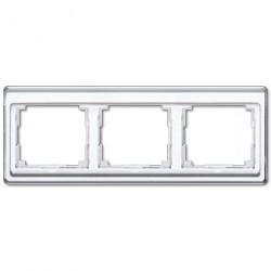 Рамка 3 поста Jung SL 500, горизонтальная, белый, SL5830WW