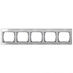 Рамка 5 постов Jung SL 500, горизонтальная, серебристый, SL5850SI