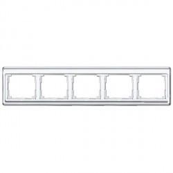 Рамка 5 постов Jung SL 500, горизонтальная, белый, SL5850WW