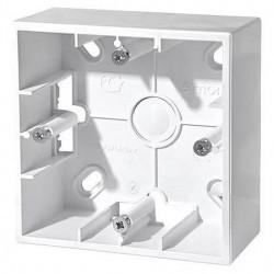 Simon15 Коробка для наружного монтажа 1-ная, белая