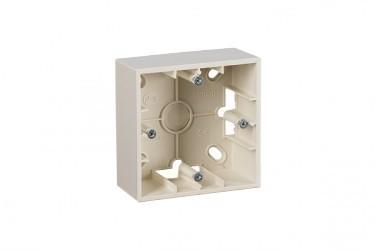 Simon15 Коробка для наружного монтажа 1-ная, слоновая кость