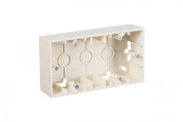 Simon15 Коробка для наружного монтажа 2-ная, слоновая кость