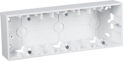 Simon15 Коробка для наружного монтажа 3-ная, белая