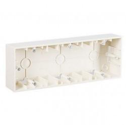 Simon15 Коробка для наружного монтажа 3-ная, слоновая кость