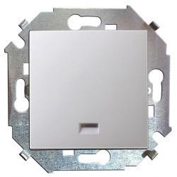 Выключатель одноклавишный Simon SIMON 15, скрытой установки, белый, 1591101-030