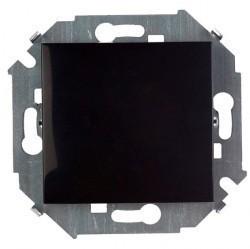 Выключатель 1-клавишный Simon SIMON 15, скрытый монтаж, черный глянцевый, 1591101-032
