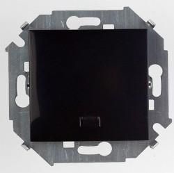 Выключатель 1-клавишный Simon SIMON 15, с подсветкой, скрытый монтаж, черный глянцевый, 1591104-032