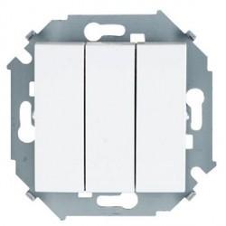 Выключатель 3-клавишный Simon SIMON 15, скрытый монтаж, белый, 1591391-030
