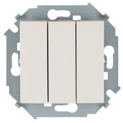 Выключатель 3-клавишный Simon SIMON 15, скрытый монтаж, слоновая кость, 1591391-031