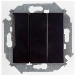 Выключатель 3-клавишный Simon SIMON 15, скрытый монтаж, черный глянцевый, 1591391-032