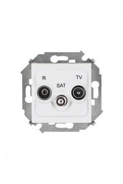 Розетка TV-FM-SAT Simon SIMON 15, одиночная, белый, 1591466-030