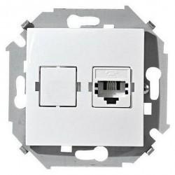 Розетка 1xRJ11 Simon SIMON 15, белый, 1591480-030