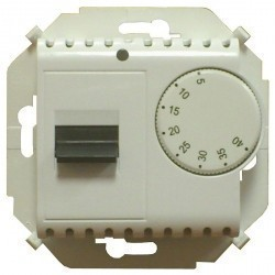 Термостат для теплого пола Simon SIMON 15, с датчиком, белый, 1591775-030