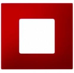Рамка 1 пост Simon SIMON 27 PLAY, красный, 2700617-037